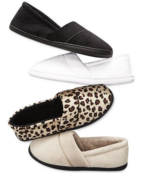 macy slippers charter club microvelour memory foam slippers only at