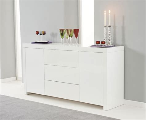 High Gloss Sideboards Uk ornella white high gloss sideboard oak furniture solutions