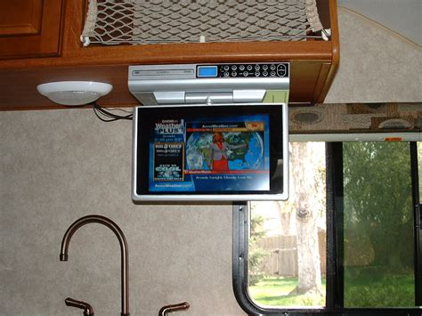 under cabinet radio tv kitchen audiovox 12 quot under cabinet tv dvd cd radio r pod nation
