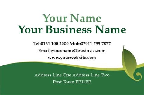 gardening business cards templates print templates printing uk