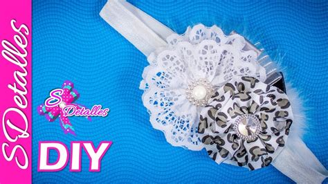 Diy Ribbon Lace Baker S Twine 18 lace and ribbon flower headband 16 sdetalles diy