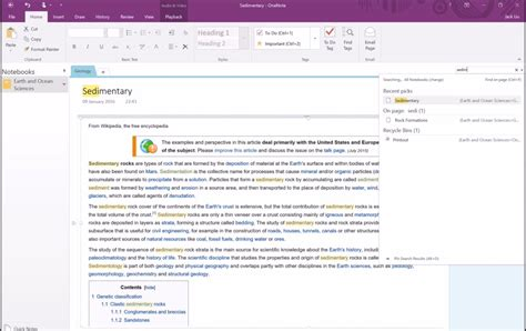 search for sections section 4 onenote search and interface features