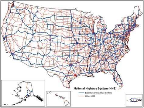 road map us highways national highway system united states wikiwand