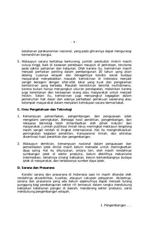 Multidimensi Ketahanan Nasional liran undang undang no 17 tahun 2007 tentang rencana