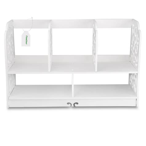 5 shelf desk organizer desktop storage rack 2 tier office desk shelf unit
