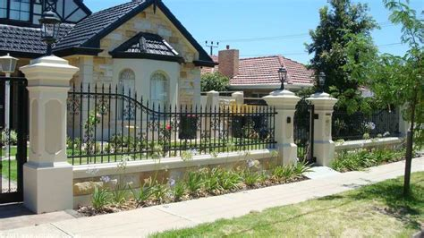 front yard brick fence designs stunning front fence ideas to protect and security your