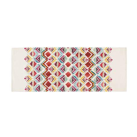 ethno muster teppich mit buntem ethno muster bedruckt 80x200cm