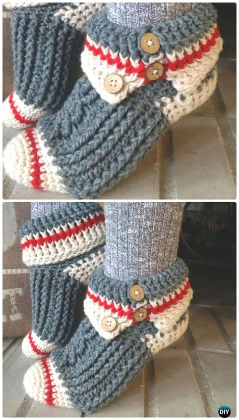 sock monkey booties knitting pattern free crochet slippers free patterns crochet sock