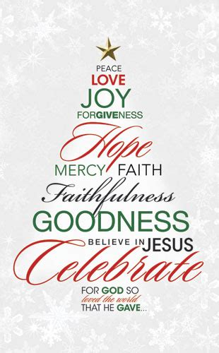 christmas tree decorated whith words word tree banner church banners outreach marketing