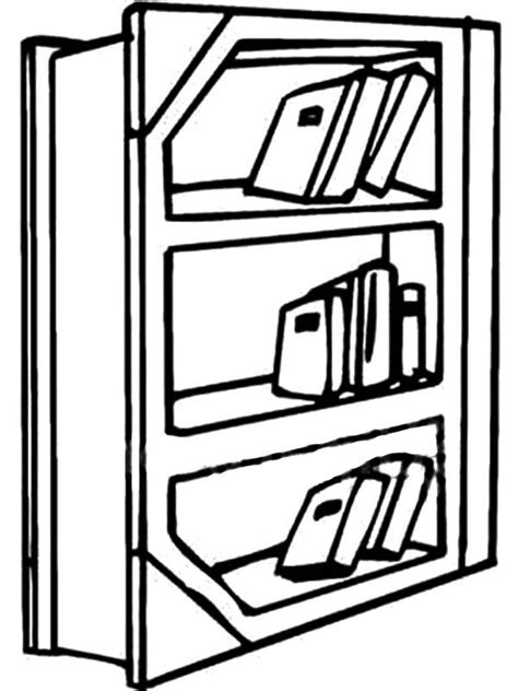 coloring page bookshelf bookshelf in the library coloring pages best place to color