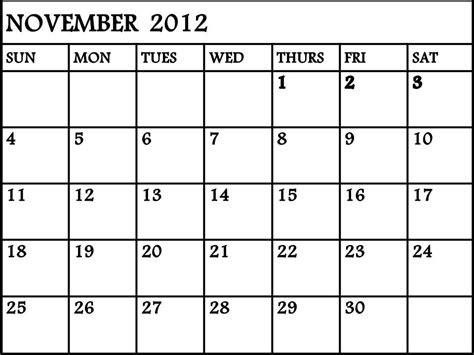 Calendar November 2012 November 2012 Calendar The Mind Musings Of Ricoracer Flux