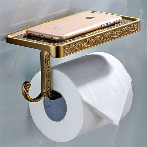 Phone Shelf Wall Mount by Retro Antique Carving Toilet Roll Paper Holder With Phone