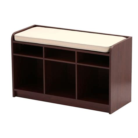 cherry storage bench martha stewart living 35 in x 21 in dark cherry storage