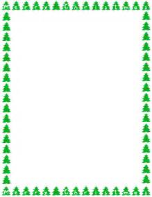 christmas trees border page page frames holiday