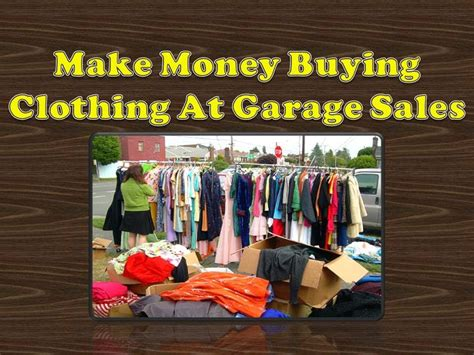one cool clothing item garage sale find make money
