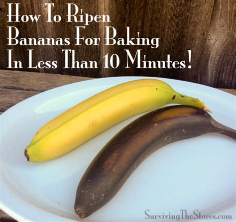 how to ripen bananas for baking