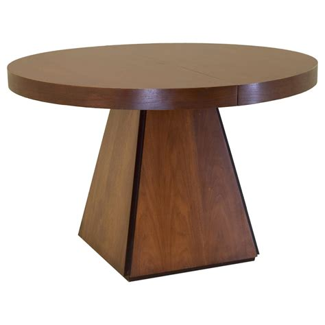 cardin obelisk dining table in walnut with