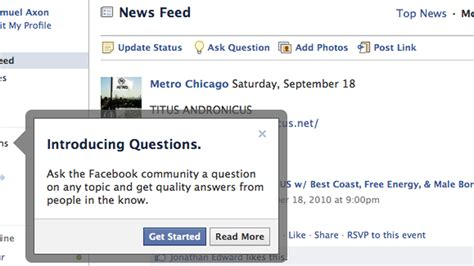 fb questions facebook questions officially launches