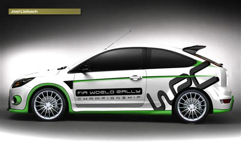 Wallpaper W005 Wallpaper Sticker Limited ford focus rs wrc limited edition with information and