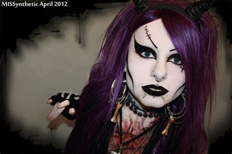 death rock makeup missynthetic into the tunnel by missynthetic on deviantart