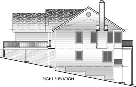 rear view house plans rear view house plan w daylight basement