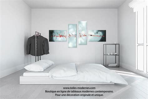 tableau pour chambre b饕 tableau gris blanc quadriptyque evasion c 233 lestre grand