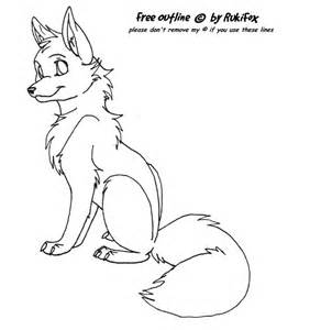 Fox Drawing Outline by Free Fox Outline By Rukifox On Deviantart