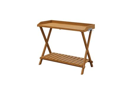 folding potting bench 10 easy pieces wooden potting benches gardenista