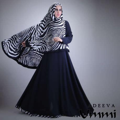 Adeeva Dress adeeva black baju muslim gamis modern