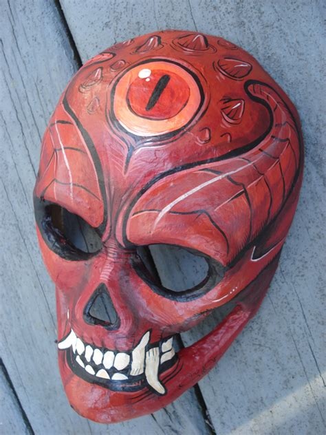 A Paper Mache Mask - paper mache mask by missmonster on deviantart