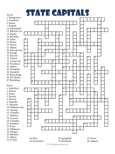 usa today crossword puzzle won t load state capitals crossword