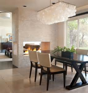 Modern Lighting Dining Room Dining Room Fireplace Ideas For Romantic Winter Nights