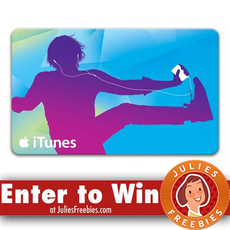 Win Itunes Gift Card - win a 500 00 itunes gift card julie s freebies