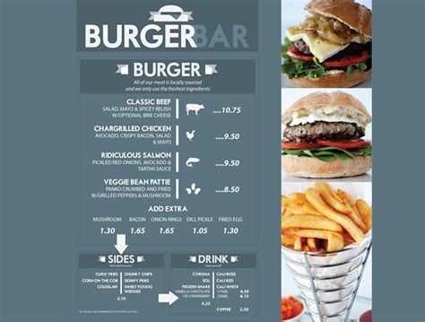 burger menu template 20 best creative restaurant menu designs 2017