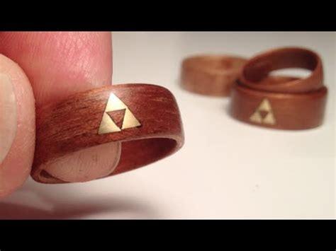 diy wood ring how to make wood rings bent veneer w brass triforce inlay