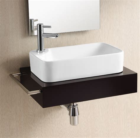 contemporary bathroom sinks gorgeous modern rectangular vessel sink by caracalla