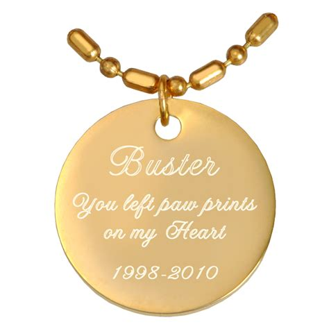 engraved gold plated round pendant with chain or keychain