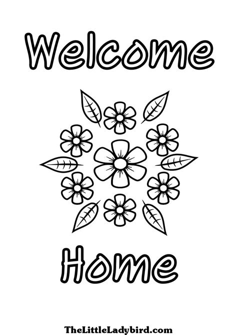 home coloring pages welcome home coloring pages