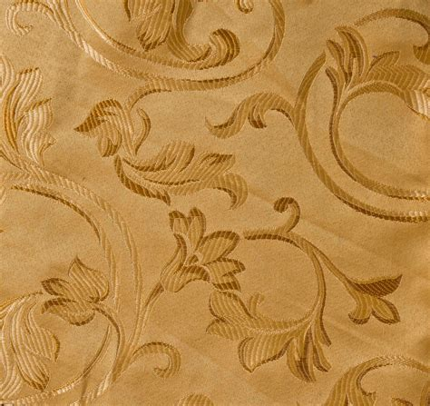 1 yard jacquard gold floral design drapery upholstery