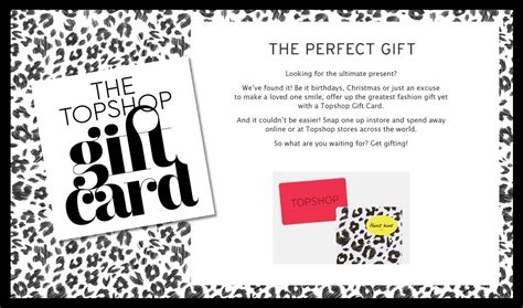 Top Shop Gift Card - presents for girls musely