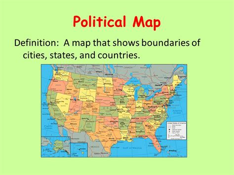 map of united states showing state boundaries maps maps more ppt
