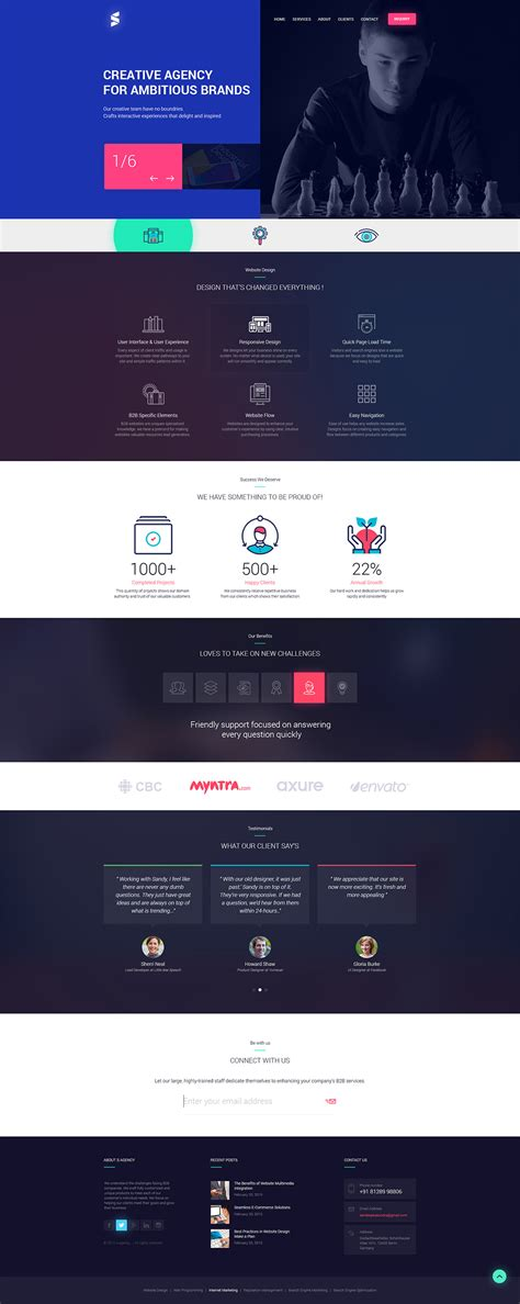 download free creative design agencies website template