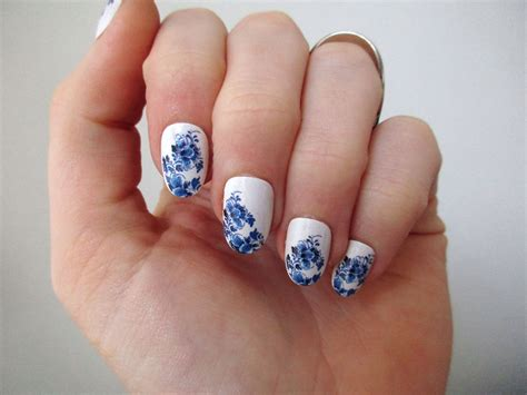 Nail Tattoos by Delft Blue Nail Tattoos Nail Decals Nail Boho Nails