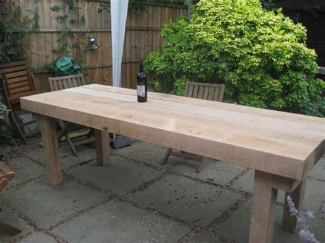 New Oak Railway Sleepers by Large Banqueting Table From New Oak Railway Sleepers