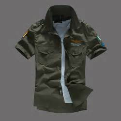 2015 summer type army green military style shirts for men