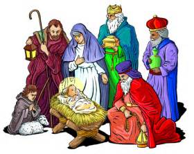 The three wise men carrying gold frankincense and myrrh along with