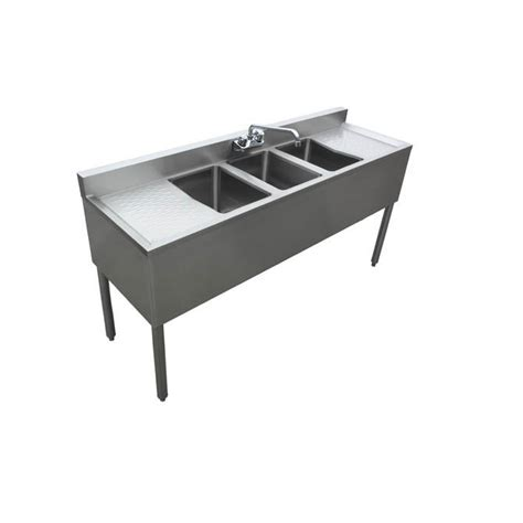 3 compartment sink with drainboards sauber 3 compartment stainless steel bar sink with two 13