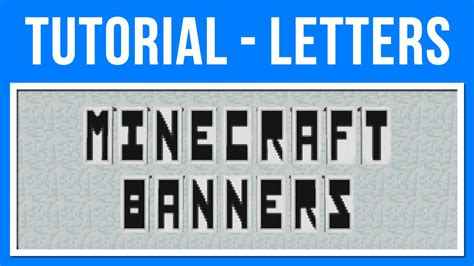 minecraft 1 8 banner letters of the alphabet