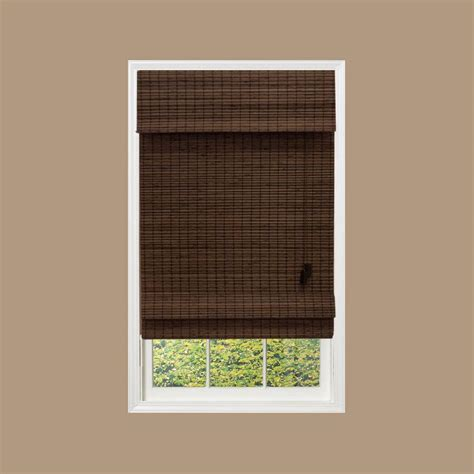 home depot l shades home decorators collection flat weave bamboo