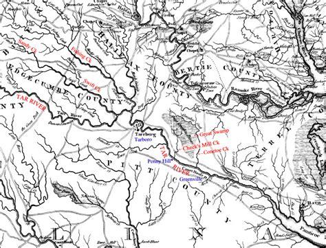map of carolina rivers and creeks richard quot of beaufort quot cheek p 4